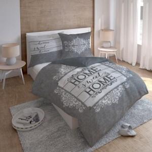 Kvalitné posteľné obliečky z bavlny v sivej farbe