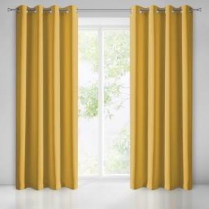 Luxusný zatemňovací záves žltej farby do obývačky