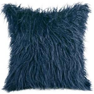 Ozdobná chlpatá obliečka tmavo modrej farby