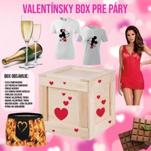 Veľký Valentínsky box pre páry darček na valentína