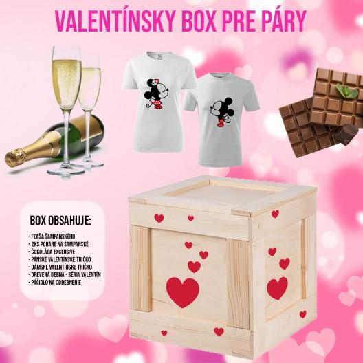 Malý Valentínsky box pre páry darček na valentína