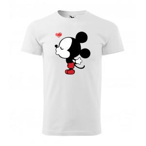 Valentínske tričko bielej farby pre pánov