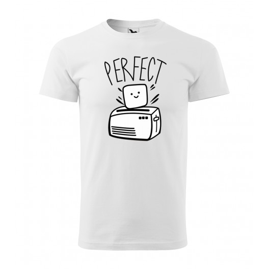 Biele pánske tričko na valentína s krátkym rukávom