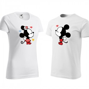 Biele valentínske tričká pre páry