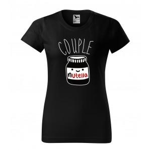 Čierne tričko s valentínskym motívom pre dámy