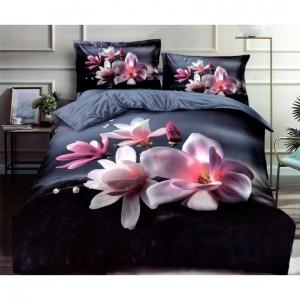 3D posteľné obliečky s motívom kvetov
