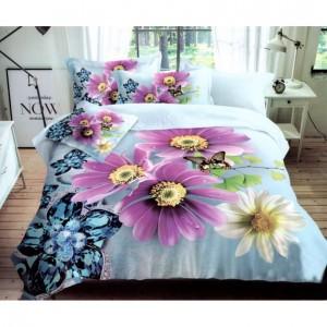 Štýlové obliečky na posteľ v modrej farbe