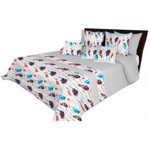 Svetlo sivý prehoz na posteľ s jemným prešívaním