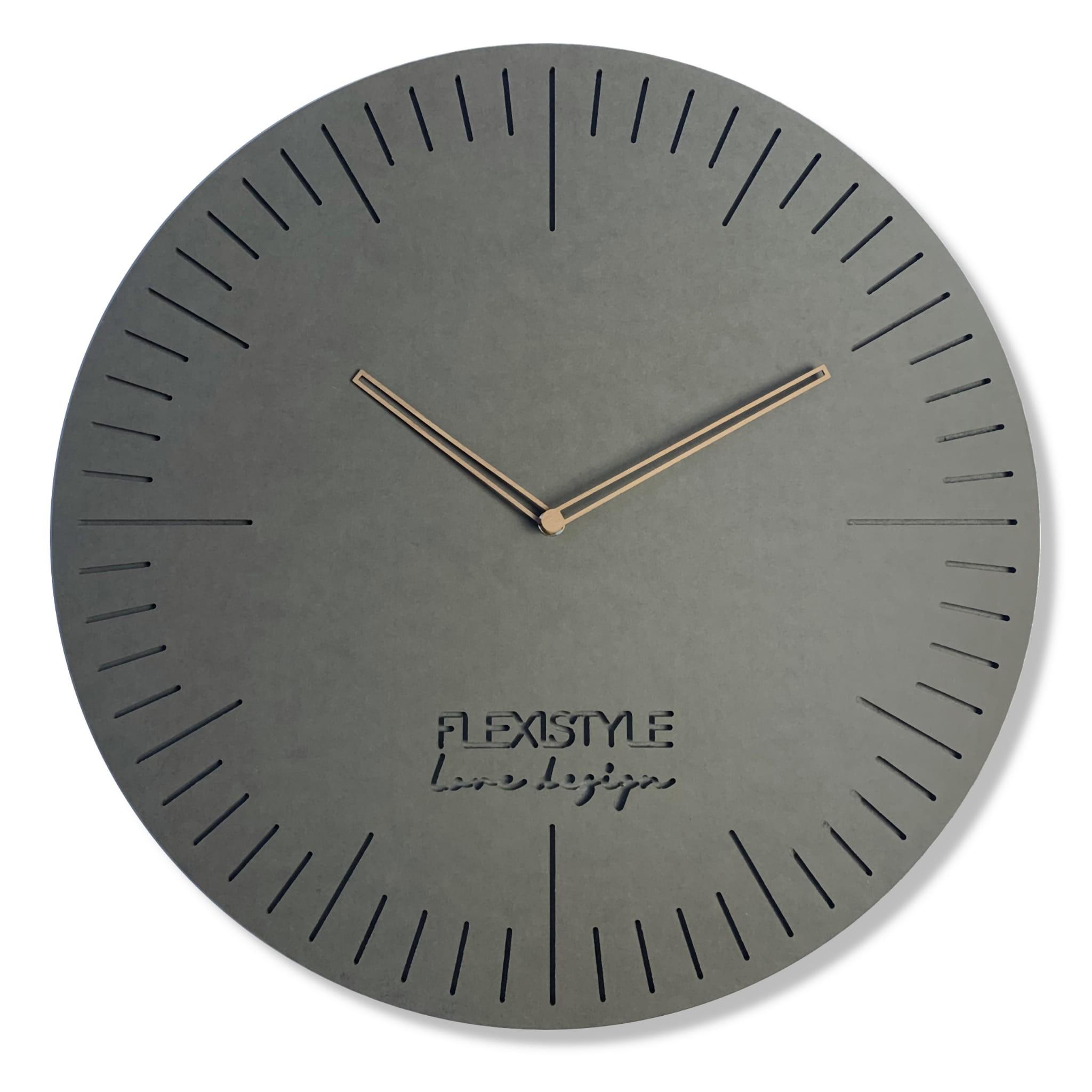 DomTextilu Elegantné hodiny do obývacej izby NATURAL 50cm 16624