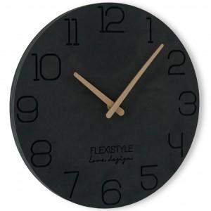 Štýlové hodiny na stenu okrúhle s priemerom 30cm