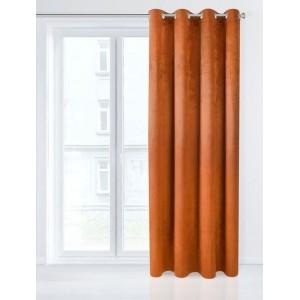 Jednofarebný Black Out záves v oranžovej farbe