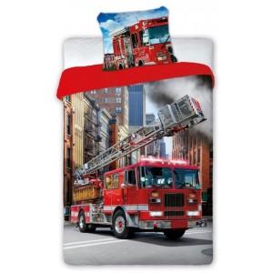 Kvalitné posteľné obliečky pre deti s hasičským autom