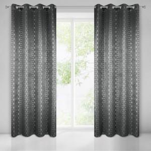 Luxusné závesy do obývačky v tmavo sivej farbe