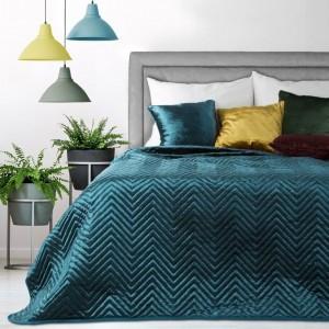 Dekoračný prehoz na posteľ v tyrkysovej farbe