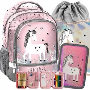 Školská taška pre dievčatá s jednorožcom