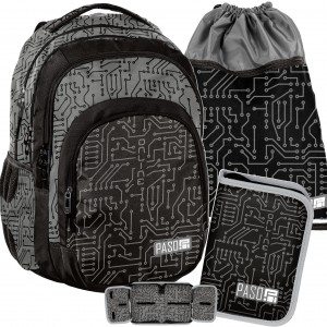 Štýlová školská taška pre chlapcov v jednoduchom dizajne