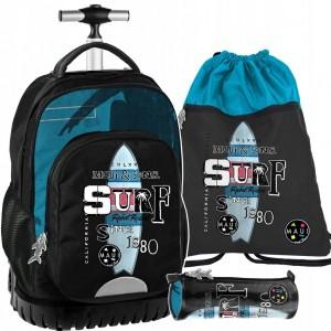 Školská taška v sivej farbe pre chlapcov