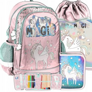 Krásna dievčenská školská taška s leskom