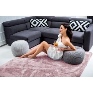 Ružový kusový koberec plyšový 120 x 170 cm