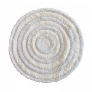 Orúhly koberec v bielej farbe