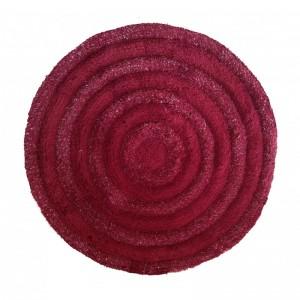 Elegantný okrúhly koberec v bordovej farbe