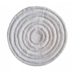 Krémový okruhlý koberec s priemerom 90cm