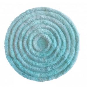 Kvalitný okrúhly koberec v mentolovej farbe