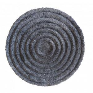 Kvalitný koberec v sivej farbe okrúhly s priemerom 90cm