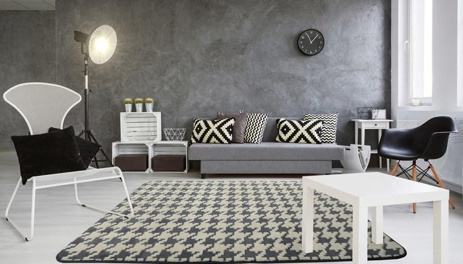 DomTextilu Nové koberce v sivo krémovej farbe 120 x 170 cm 17476