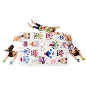 Kvalitný koberec do detskej izby s motívom sovičiek