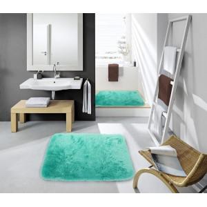 Kúpeľnové predložky zelenej farby