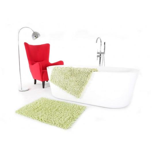 Svetlo zelené kúpeľňové koberčeky