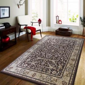 Vintage koberec v hnedej farbe do obývačky