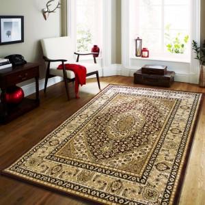 Hnedý vingate koberec do obývacej izby