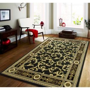 Zelený štýlový koberec vo vintage štýle