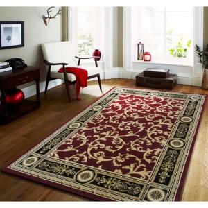 Kvalitný vintage koberec v červenej farbe
