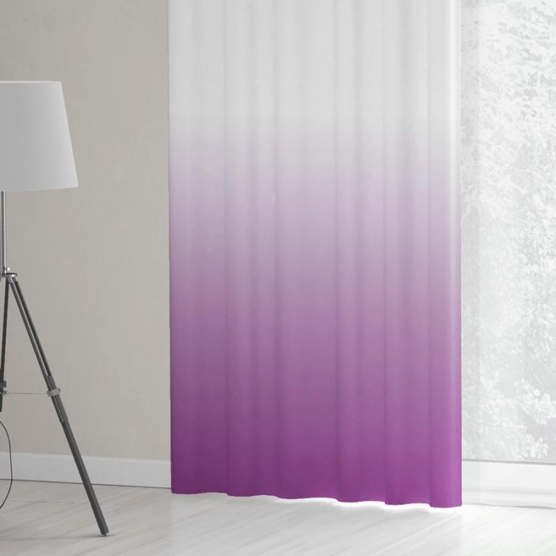 Bielo fialový záves 70 x 100 cm
