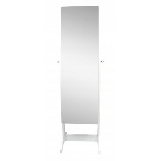 Zrkadlová skriňa bez rámu s úložným priestorom