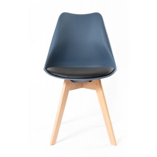 Tmavo modrá stolička do kuchyne s mäkkým podsedákom