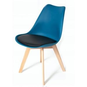 Tmavo tyrkysová stolička s podsedákom