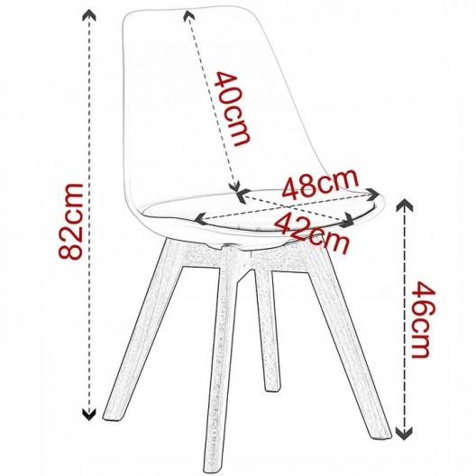 Škandinávske stoličky v tyrkysovej farbe