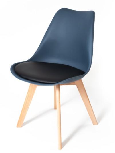 DomTextilu Tmavo modrá stolička do kuchyne s mäkkým podsedákom 17910