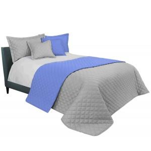 Svetlo sivý prehoz na manželskú posteľ