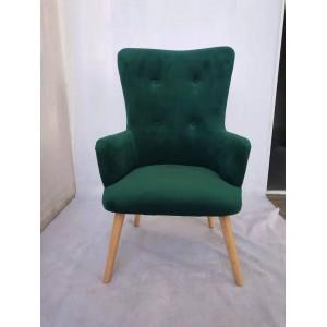 Veľké pohodlné kreslo v zelenej farbe
