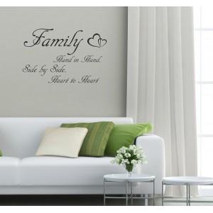 Dekoračný nápis na stenu FAMILY