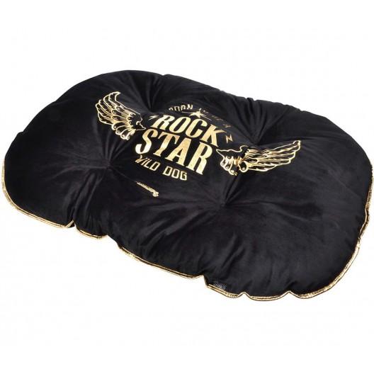 Moderný pelech v čiernej farbe pre psov ROCK STAR 69x52cm