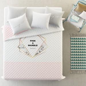 Kvalitný prehoz na posteľ v jemej ružovej farbe