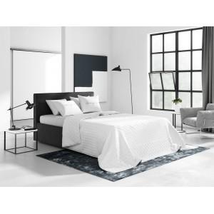 Elegántné jednofarebné obojstranné prehozy na posteľ v bielej farbe