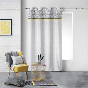 Vzorované škandinávske závesy na okná 140 x 280 cm