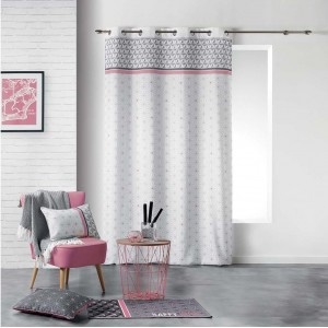 Sivo ružové dekoračné závesy do obývacej izby 140 x 280 cm